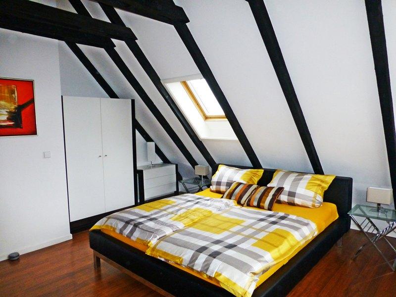 helles Doppelzimmer 2 der preiswerten Komfort Ferienwohnung für 4-5 Gäste Sylter Deichwiesen www.sylter-deichwiesen.de
