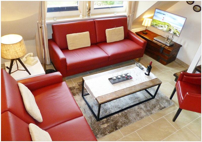 4-Zimmer-Ferienwohnung auf Sylt in Westerland, günstig von provat buchbar für 4 oder 5 Personen. Last Minute beachten