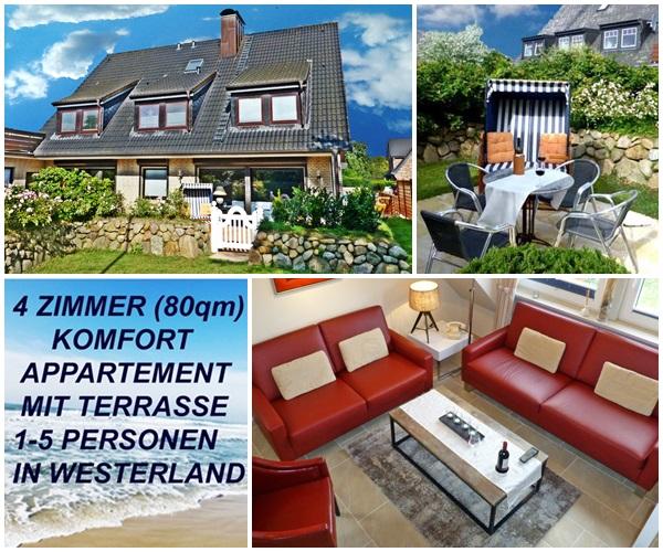Sylt Westerland Ferienwohung günstig für 5 Personen