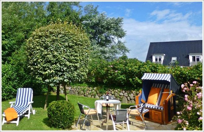 Garten Ferienwohnung auf Sylt www.sylter-deichwiesen.de