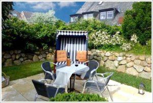 Ferienwohnung auf Sylt mit Terrasse