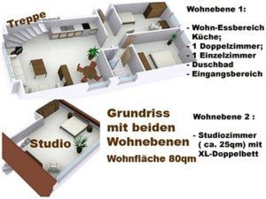 Ferienwohnung auf Sylt mit 4 Zimmern-www.sylter-deichwiesen.de Grundriss