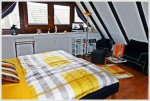 Sylt Ferienwohnung § Schlafzimmer www.sylter-deichwiesen.de