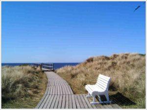 Bank am Strand Sylt Ferienwohnung in Westerland für 4 Personen, günstig von privat