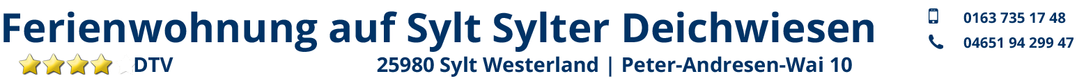 Ferienwohnung auf Sylt Sylter Deichwiesen